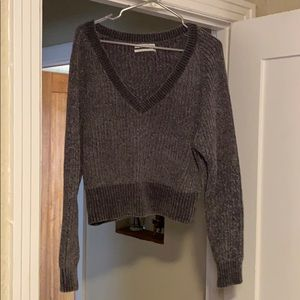 urban outfitters cropped chenille sweater
